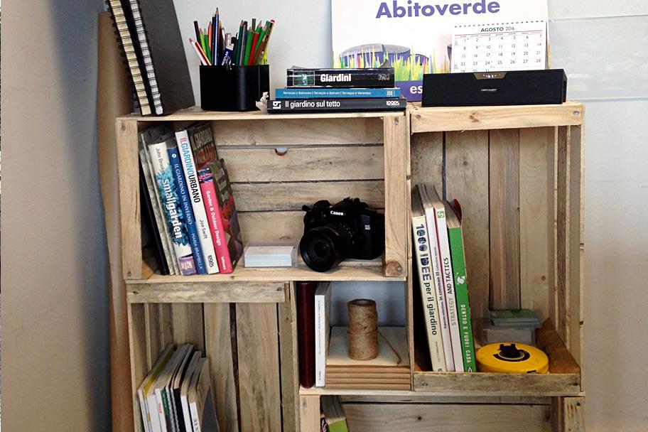 Libreria pallet abito verde - Libreria verde ...