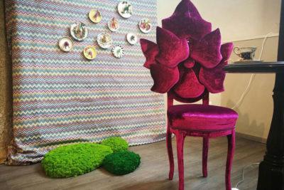Allestimento Isola Muschio Design Week