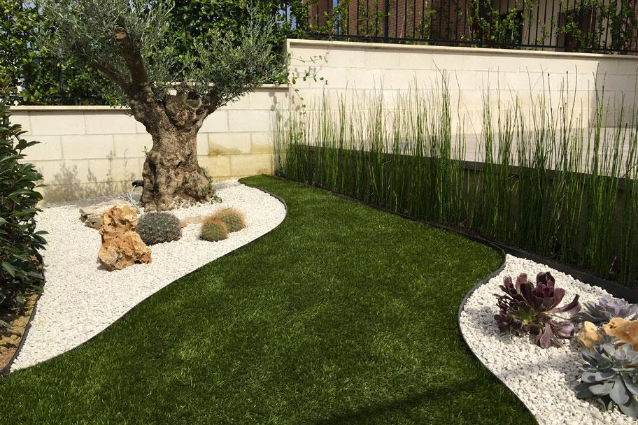 giardino privato allestimento abito verde